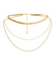 Treradigt halsband | Guld | DAM | H&M SE