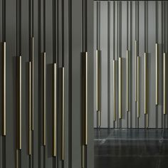 Find out all of the information about the LAURAMERONI product: wood decorative panel wall mounted lacquered effect BAMBOO by Diego Maria Piovesan. Contact a supplier or the parent company directly to get a quote or to find out a price or your clos Concrete Wall, Wood Wall, 3d Wall Panels, Striped Walls, Mesh Screen, Tiles Texture, Decorative Panels, Creative Walls, Wall Patterns