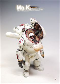 1:20 sci-fi scale model, Maschinen Krieger SeaPig, by Kunho Noh. Pinned by #relicmodels