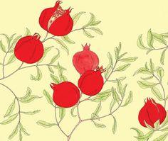 Pomegranate print by artist Yana Beylinson