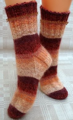 Hand knitted wool socks.Sock yarn  special kid от mittenssocksshop, $47.00