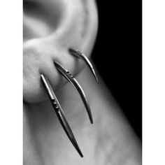 TRIS Scythe earrings, set of 3, sterling silver Joanna Szkiela x Ovate Resurgam collab found on Polyvore