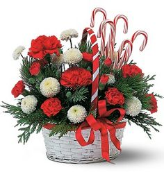 Candy Cane Basket   TF86-4