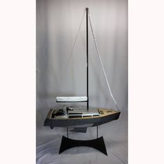 Yacht - made from bits of bumper, an old computer and some odds and sods that were lying around the studio #yacht #boat #boating #sealife #marina