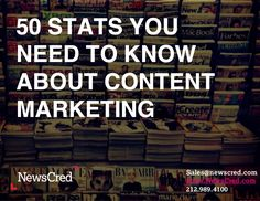 by NewsCred via Slideshare 50 Stats You Need to Know About Content Marketing by NewsCred on Jun 2013 views The 50 most important content marketing statistics that will help you prove the value of content and keep you accountable. Content Marketing Strategy, Inbound Marketing, Online Marketing, Social Media Marketing, Digital Marketing, Business Marketing, Social Media Measurement, Social Media Content, Copywriting