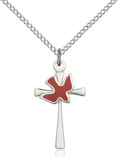 Cross / Holy Spirit Pendant (Sterling Silver) by Bliss | Catholic Shopping .com