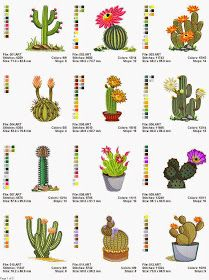 Grand Sewing Embroidery Designs At Home Ideas. Beauteous Finished Sewing Embroidery Designs At Home Ideas. Cactus Embroidery, Learn Embroidery, Free Machine Embroidery Designs, Cross Stitch Embroidery, Hand Embroidery, Embroidered Cactus, Cactus Cross Stitch, Cactus Flower, Illustration