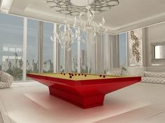 Billiard Table, Dinner Billiard Table, Pool Billiard, Biliardo Tavolo, Snooker, Billiard Room, Billiards - B_ig by MBM biliardi. Innovative pool table designed by Massimo Iosa Ghini for MBM Biliardi.