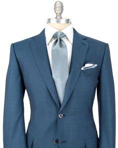 Ermenegildo Zegna | Solid Light Blue Suit | Apparel | Men's