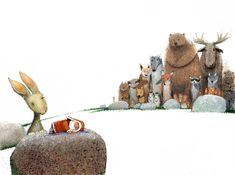 "Игорь ОлейниковIgor (Igor Oleynikov), illustration for the book ""How Was Santa Claus Born?"" by Marina Moskvina and Sergey Sedov.  Omg.  RI-DI-CU-LOUS. :D"