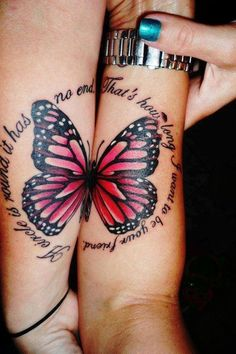 Two Halves Of A Butterfly Tattoo ~ Butterfly Tattoo Ideas