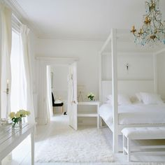 Chunky, white four-poster bed | Celia Rufey's bedroom decorating tips and advice | Bedroom design ideas | Celia Rufey | PHOTO GALLERY | FAQ ...