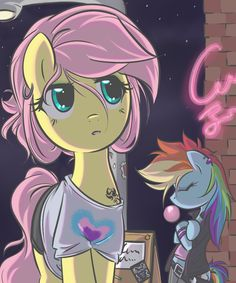 Fluttershy & Dash i really like this picture