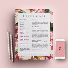 resume template 3 page pack cv template cover par resumegalleria - Resume Layout Template