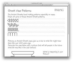 learn the greek alphabet and strengthen abdominal muscles pottery patterns worksheet