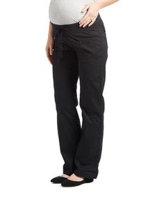 Black Convertible Under-Belly Maternity Pants