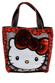 Loungefly Hello Kitty Big Bow Tote Bag, (hello kitty, handbag, purse, face, handbags, patent, kawaii, loungefly, sanrio, vegan) at http://myamzn.heroku.com/b/B004PKF81C