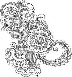 Vinilo decorativo ornamento floral Asia