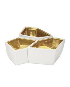 Aerin Three Geo Bowls $550
