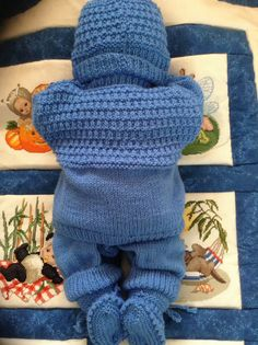 Newborn Baby Boy Coming Home Sweater Pants por Meganknits4charity