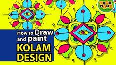 How to draw and paint KOLAM DESIGN 02   STEP BY STEP   TADA-DADA Art Club