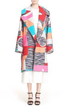 'Marles' Multicolor Woven Coat Via @tawananecole