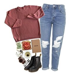 """""""Untitled #2436"""" by sisistyle ❤ liked on Polyvore featuring Topshop, Dr. Martens and Avon"""