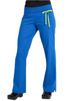 Urbane Sport knit roll-top yoga STRETCH scrub pants. Main Image