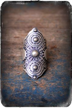 Armor Ring- A Sterling Silver Filigree Saddle Ring - WANT bohemian style