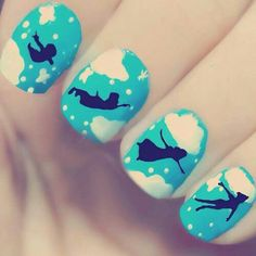 Peter Pan silhouette nails @katrinaadams30 maybe these but like fake or something bc my nails are to short