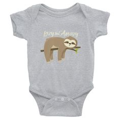 01485157c9 Lazy but Amazy Sloth Baby Bodysuit Boy Onesie