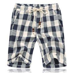 163968934a8 top quality Summer style shorts men 2016 cotton Mens shorts five casual  shorts tide male cotton beach linen shorts