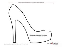 Shoe bag applique template