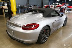 The team at BBi Autosport upgraded this 2016 Porsche Boxster Spyder with their 405HP StreetCup Stage 1 power pkg and StreetCup Stage 2 suspension kit. The new Continental Force Contact tires are wrapped around Forgeline 1pc forged monoblock GA1R wheels finished in Hyper Silver. See more at: http://www.forgeline.com/customer_gallery_view.php?cvk=1602  #Forgeline #ForgelineWheels #forged #monoblock #GA1R #notjustanotherprettywheel #madeinUSA #Porsche #Boxster #Spyder