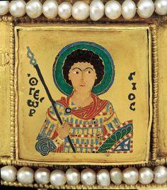 Szent György harcos szent Byzantine Gold, Byzantine Jewelry, Orthodox Catholic, Hellenistic Period, Georgia, Medieval Art, Illuminated Manuscript, Art Decor, Korn