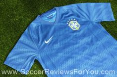 Brasil 2014 Away Jersey that will be used in Brasil during World Cup play. To see more pictures with Video and discount Cou. Fifa World Cup Jerseys, Polo Shirt, T Shirt, Brazil, Soccer, Long Sleeve, Sleeves, Mens Tops, Fashion