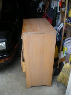 saved from the trash.solid wood mini baby dresser in need of some T.L.C.