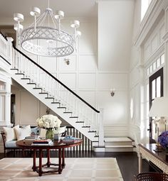 Alexa Hampton house - Love how it appears that the basement steps are open. Makes it more a part of the house!