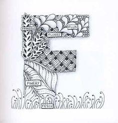 Zentangle/Alphabets on Pinterest | Zentangle, Illuminated Letters ...