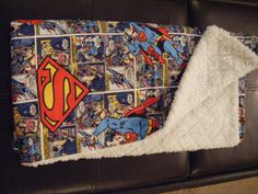 Superman baby blanket! WANT this for when I have a baby some day! Don't care if its a boy or girl! Haha