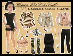 (⑅ ॣ•͈ᴗ•͈ ॣ)                                                                 ✄coco chanel paper doll