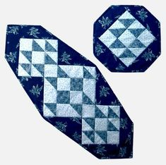 Designs to Share with You quilt pattern - Country Charm - designed by Ursula Riegel  Give your table a new look!  Quick piecing methods and a detailed plan for assembly make this a fun-filled and fast quilt pattern.  Finished Sizes: Placemats: 15 x 15 Table Runner: 17.5 x 42.5 Skill