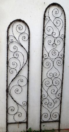 I will be happy to make you a trellis very similar to this one! Give your flowers climbable art! This trellis measures almost 6 feet tall and 12