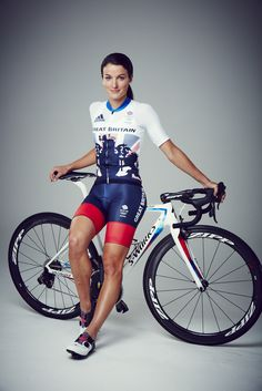 """and her best rendition of the 'Leaning On A Bike' section of the """"Ladies Looking Sexy In Lycra Bike Shorts"""" competition. Bicycle Women, Bicycle Race, Bicycle Girl, Cycling Girls, Pro Cycling, Female Cyclist, Bike Wear, Cycling Accessories, Female Gymnast"""