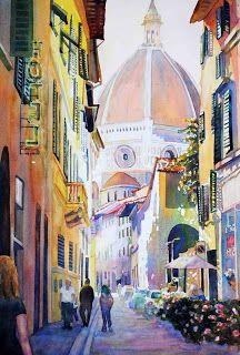 Catherine Hillis: Artist in Motion: Italian Street Scenes