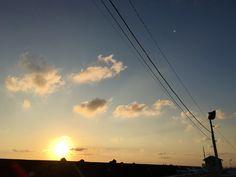 Kashima-harbor,Ibaraki,Japan. sunrise.  おとな釣り倶楽部.  強風で出航できなかった日.  朝焼け.