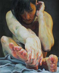 "caraandlouie: Cara Thayer & Louie Van Patten""Edificial,"" 201230x24inOil on Canvas"
