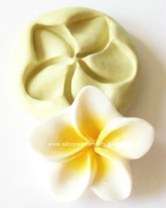 Plumeria mold 605 - silicone mold, craft mold, porcelain mold, jewelry mold, food mold, pop up mold, clays mold, flexible mold. $5.00, via Etsy.