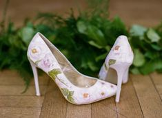 Elizabeth & Rose Design: Beautiful Hand-painted Floral Wedding Shoes