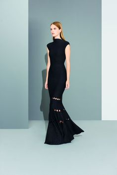 Azzedine Alaia - couturier.  Interesting lines for a knit (or crochet) piece. . . .